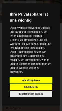 Vorschau der mobilen Webseite www.zahnarzt-suhl.de, Zahnarzt und Kieferorthopädie Dr. Stade