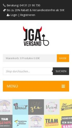 Vorschau der mobilen Webseite jga-versand.de, JGA Versand