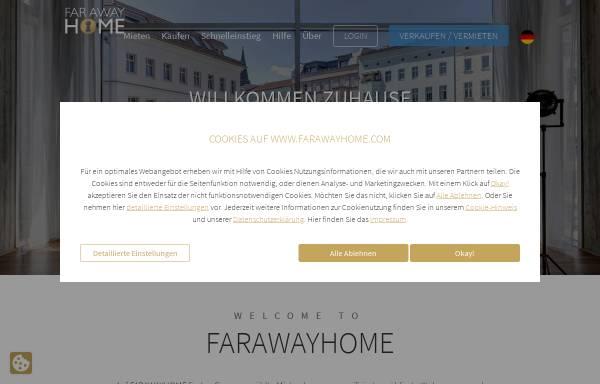 Vorschau von www.farawayhome.de, FARAWAYHOME - Wohnen auf Zeit in Berlin