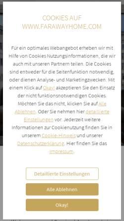Vorschau der mobilen Webseite www.farawayhome.de, FARAWAYHOME - Wohnen auf Zeit in Berlin