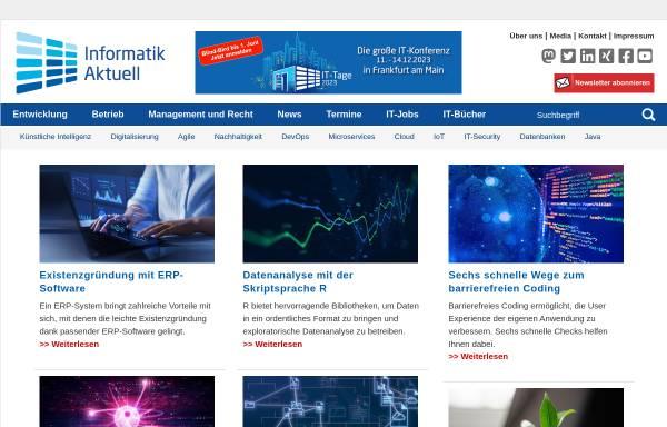 Vorschau von www.informatik-aktuell.de, Informatik Aktuell