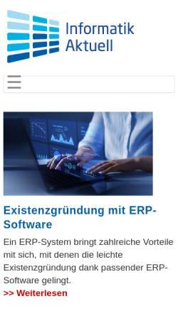 Vorschau der mobilen Webseite www.informatik-aktuell.de, Informatik Aktuell