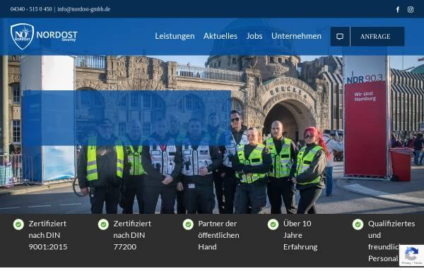 Vorschau von www.nordost-security.de, Nordost-Security & Rail GmbH