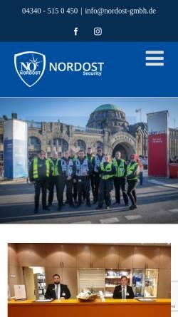 Vorschau der mobilen Webseite www.nordost-security.de, Nordost-Security & Rail GmbH