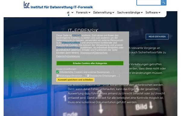 Vorschau von www.datenrettung-it-forensik.de, Institut für Computer Forensik IuK