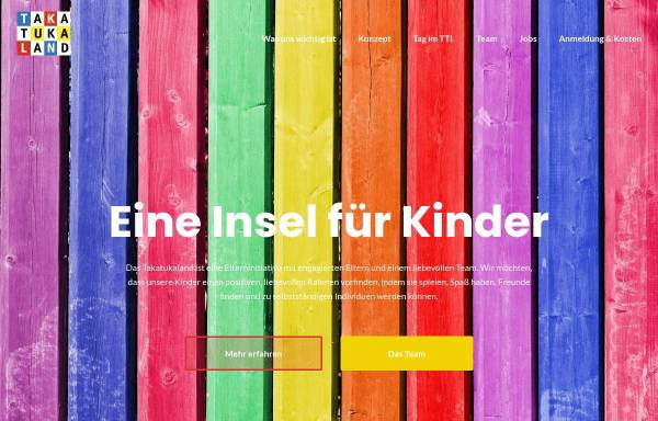 Vorschau von www.takatukaland-schwabing.de, Kinderkrippe Schwabing Takatukaland e.V.