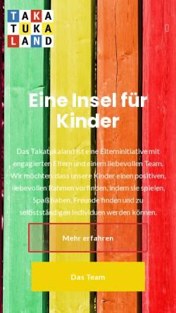Vorschau der mobilen Webseite www.takatukaland-schwabing.de, Kinderkrippe Schwabing Takatukaland e.V.