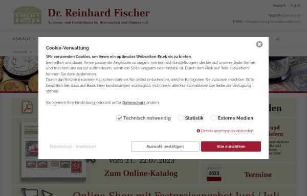 Vorschau von reinhardfischerauktionen.de, Auktions- und Handelhaus Dr. Reinhard Fischer