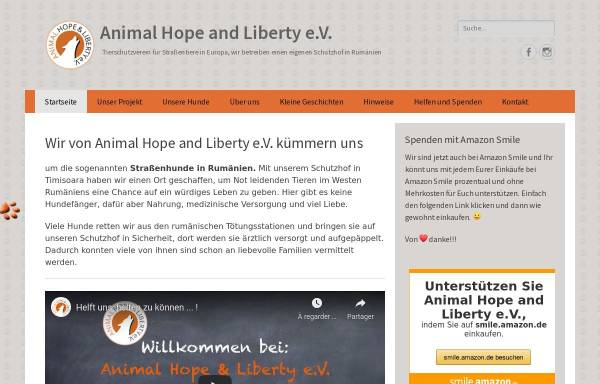 Vorschau von www.animal-hope-and-liberty.de, Animal Hope & Liberty e.V.