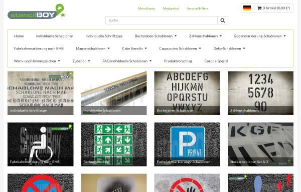 Vorschau von www.stencilboy.de, stencilBOY - Dresdner Schablonenmanufaktur