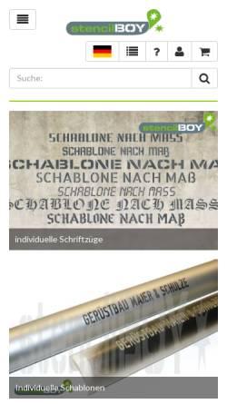 Vorschau der mobilen Webseite www.stencilboy.de, stencilBOY - Dresdner Schablonenmanufaktur