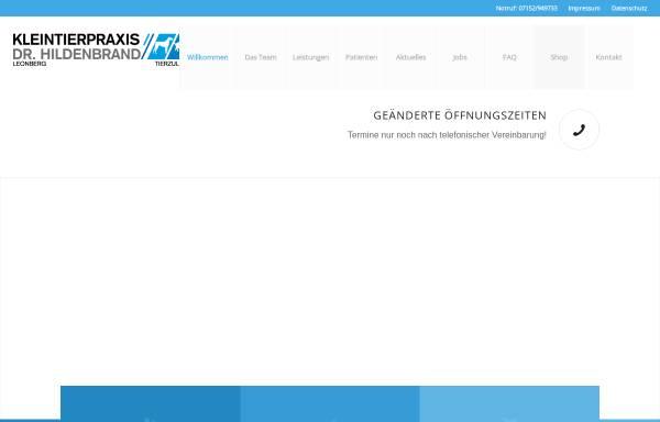 Vorschau von www.kleintierpraxis-hildenbrand.de, Kleintierpraxis Dr.Hildenbrand