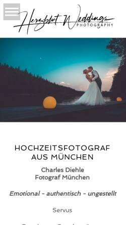 Vorschau der mobilen Webseite www.fotograf-in-muenchen.de, Hochzeitsfotograf Charles Diehle
