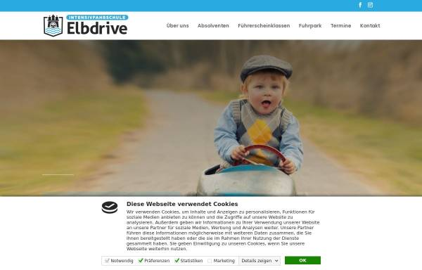 Vorschau von intensivfahrschule-elbdrive.de, Intensivfahrschule Elbdrive