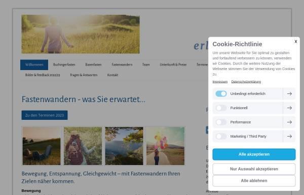 Vorschau von www.erlebnisfasten.de, Erlebnisfasten in Freiburg und Umgebung