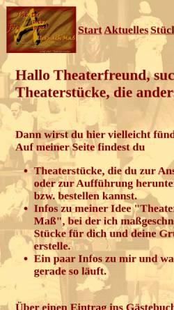 Vorschau der mobilen Webseite www.theaterautor-joerg-appel.de, Theaterautor Jörg Appel