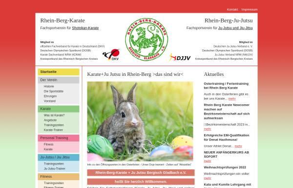Vorschau von www.rhein-berg-karate.de, Rhein-Berg-Karate Bergisch Gladbach e.V.