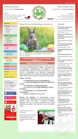 Vorschau der mobilen Webseite www.rhein-berg-karate.de, Rhein-Berg-Karate Bergisch Gladbach e.V.