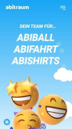 Vorschau der mobilen Webseite www.abitraum.de, Abitraum GmbH