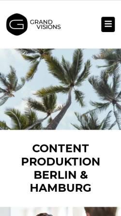 Vorschau der mobilen Webseite fotografberlin.eu, GRAND VISIONS