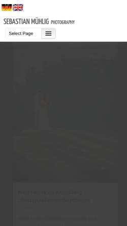 Vorschau der mobilen Webseite www.sebastianmuehlig.com, Hochzeitsfotograf Sebastian Mühlig