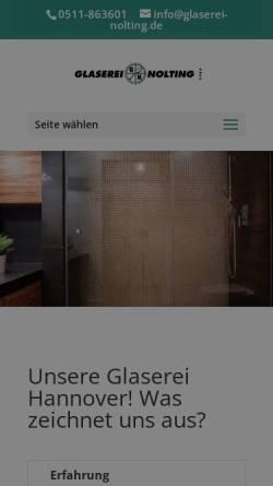 Vorschau der mobilen Webseite glaserei-nolting.de, Glaserei Nolting GmbH