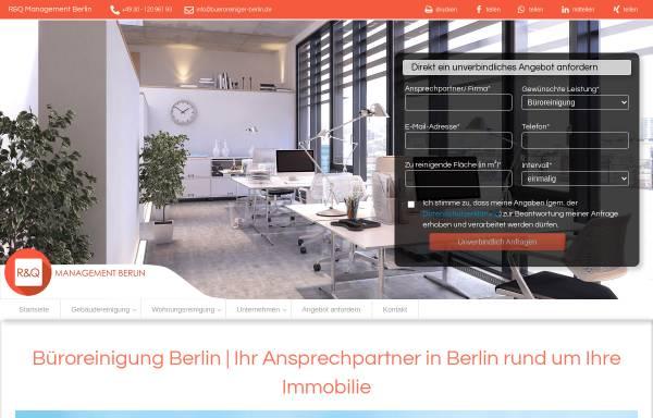 Vorschau von bueroreiniger-berlin.de, R&Q Management Berlin