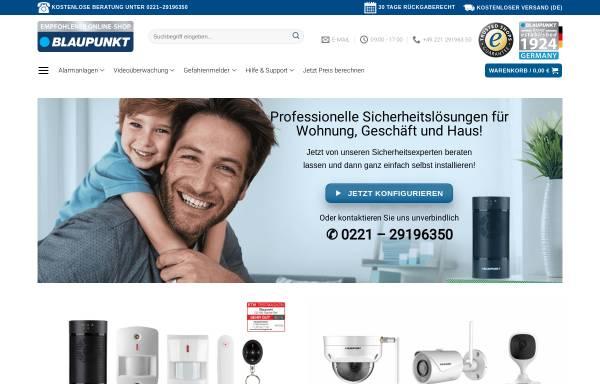 Vorschau von shop.blaupunkt-sicherheitssysteme.de, BLAUPUNKT Competence Center für Sicherheitstechnik & Alarmanlagen