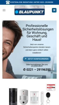 Vorschau der mobilen Webseite shop.blaupunkt-sicherheitssysteme.de, BLAUPUNKT Competence Center für Sicherheitstechnik & Alarmanlagen