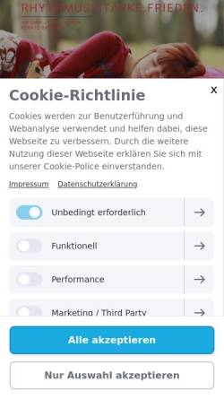Vorschau der mobilen Webseite www.jinshinjyutsuberlin.de, Jin Shin Jyutsu Berlin