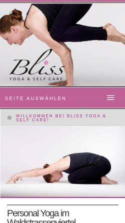 Vorschau der mobilen Webseite bliss-leipzig.de, Bliss Ashtanga Yoga