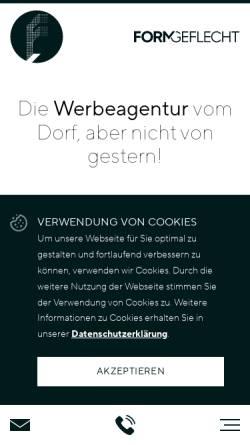 Vorschau der mobilen Webseite www.formgeflecht.de, FORMGEFLECHT GmbH