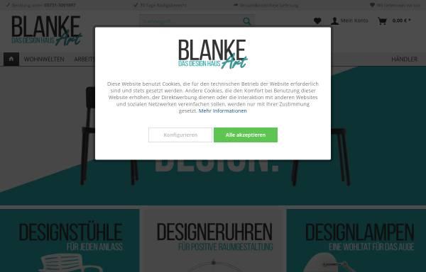 Vorschau von www.blanke-art.de, BLANKE ART Das Design Haus