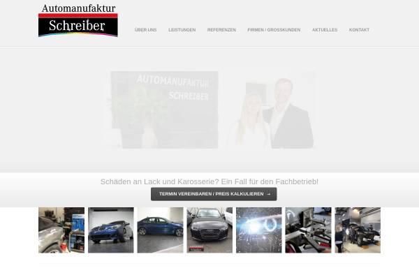 Vorschau von www.automanufaktur-schreiber.de, Automanufaktur Schreiber