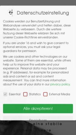 Vorschau der mobilen Webseite personal-trainer-berlin.de, Personal Trainer & Gesundheitscoach Torsten Fleischer