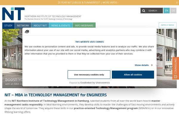 Vorschau von www.nithh.de, Northern Institute of Technology Management (NITHH)