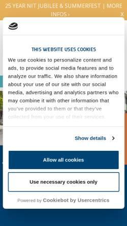 Vorschau der mobilen Webseite www.nithh.de, Northern Institute of Technology Management (NITHH)