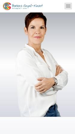 Vorschau der mobilen Webseite www.ziele-erreichen-bonn.de, Barbara Engel-Kinast: Beratung für Ihr Leben