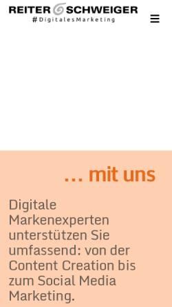Vorschau der mobilen Webseite reiter-schweiger.de, Reiter & Schweiger Werbeagentur GmbH