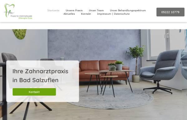 Vorschau von www.zahnarztpraxis-badsalzuflen.de, Gheorghe Rista, Praxis für Zahnheilkunde