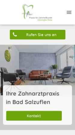 Vorschau der mobilen Webseite www.zahnarztpraxis-badsalzuflen.de, Gheorghe Rista, Praxis für Zahnheilkunde