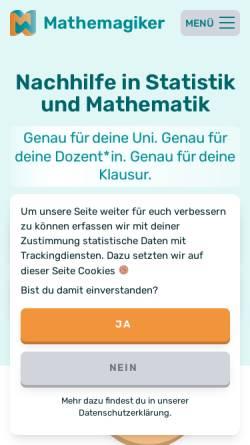 Vorschau der mobilen Webseite mathemagiker.de, Mathemagiker