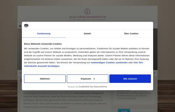 Vorschau von www.zahnarzt-metjendorf.de, Zahnarzt Olaf Weinrich