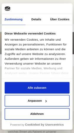 Vorschau der mobilen Webseite www.zahnarzt-metjendorf.de, Zahnarzt Olaf Weinrich