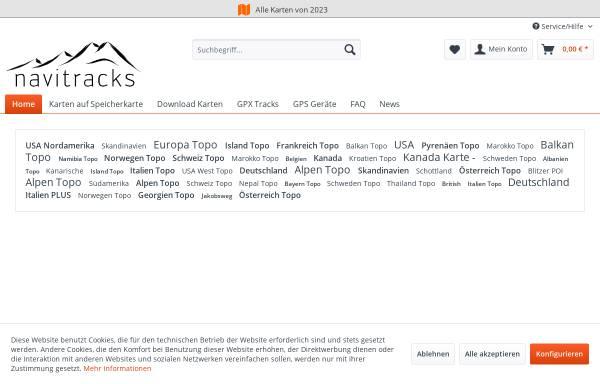 Vorschau von www.navitracks.de, navitracks - Garmin Karten Manufaktur