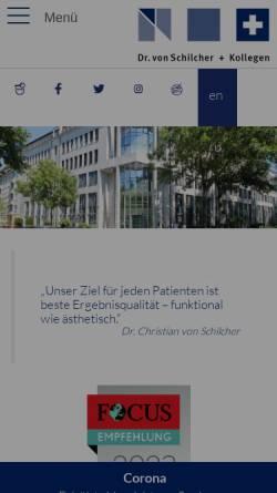 Vorschau der mobilen Webseite www.vonschilcher.de, Zahnarztzentrum am Hofgarten - Dr. von Schilcher + Kollegen