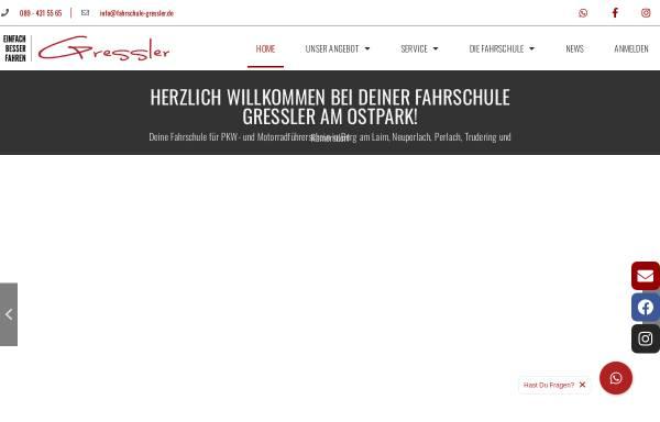 Vorschau von www.fahrschule-gressler.de, Fahrschule Gressler