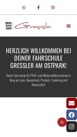 Vorschau der mobilen Webseite www.fahrschule-gressler.de, Fahrschule Gressler