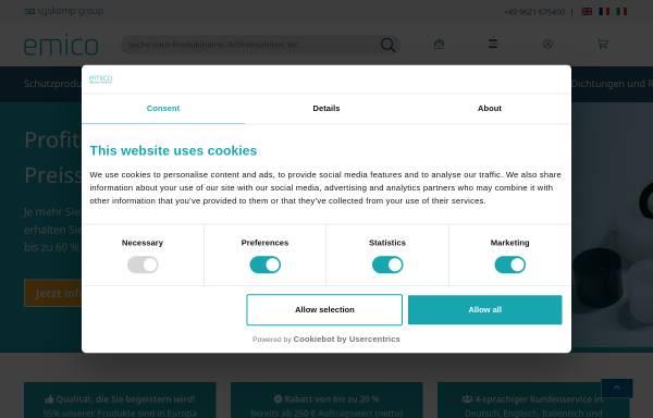 Vorschau von www.emico.de, emico | Norm- & Standardteile aus hochwertigen Kunststoffen