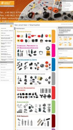 Vorschau der mobilen Webseite www.emico.de, emico | Norm- & Standardteile aus hochwertigen Kunststoffen
